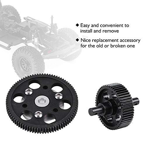 Dilwe RC Auto Gerades Zahnrad, Metall-RC-Zentrum-Getriebe Gerades Zahnrad-Set für SCX10 RC-Modellauto-Komponententeile Zubehör