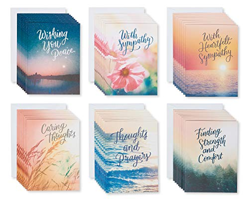 American Greetings SympathyCard Assortment, Nature (48-Count)