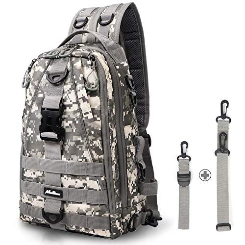 MoiShow Fishing Tackle Backpack Storage Bag, Improved Ultralight Outdoor Shoulder Backpack Fishing Tackle Box Bag, Water-Resistant Fishing Backpack with Rod Holder
