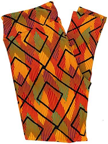 Lularoe Pattern Leggings (Tall & Curvy) Fits Pants Size 12-18 (2051)