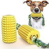 Ghlevo PIX Juguetes de masticar para perros de maíz para juguetes de perro indestructibles agresivos para masticadores agresivos de raza grandes medianas pequeñas perros pequeños maíz molar palo con d