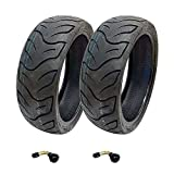 MMG Set of 2 Tires 130/60-13 Tubeless Front or Rear Motorcycle Scooter Moped, Includes 2 TR87 Bent Valve Stems