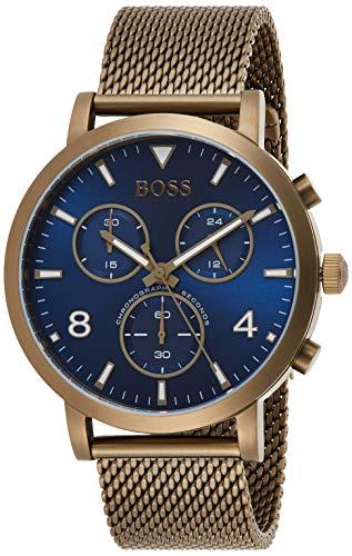 Hugo Boss Herren Chronograph Quarz Uhr mit Edelstahl Armband 1513693