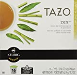 Keurig Tazo Zen Tea 16-Count K-Cups for Keurig Brewers (2 Pack, 32 cups)