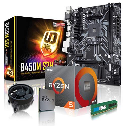 dcl24.de PC Aufrüstkit [11775] AMD 5-3600X 6x3.8 GHz - 16GB DDR4, B450 Mainboard Bundle Kit, ohne onBoard Grafik, eigenständige Grafikkarte notwendig