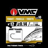 VMC Perfect Forelle gebundene Forellenhaken 60cm Vorfachlänge, Größe:6