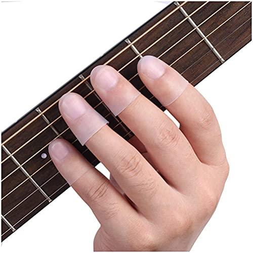 TYUXINSD Belle Guitare Gauche Toile à Doigts Silicone Doigt Guard pour Les Accessoires de Guitare Unisexe de Violon ukulélé (boîte Transparente) (Size : Finger Protector M)