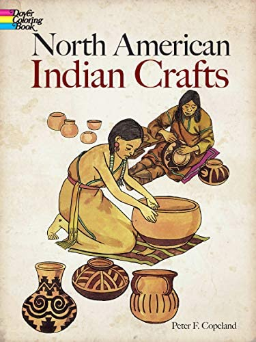 North American Indian Crafts Dover Coloring Books product image
