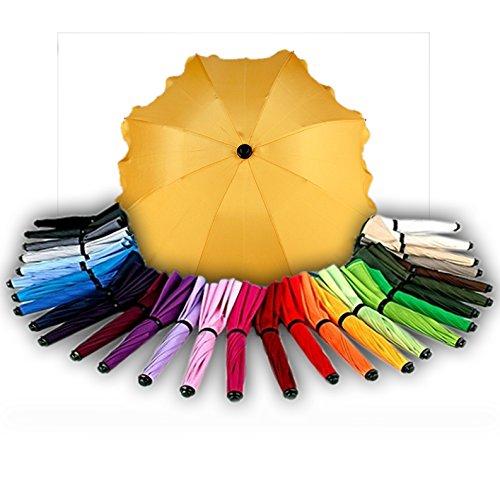 BAMBINIWELT Sonnenschirm für Kinderwagen Ø68cm UV-Schutz50+ Schirm Sonnensegel Sonnenschutz (Gelb)