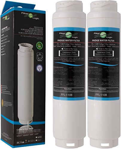 2x FilterLogic FFL-110B Water Filter Compatible with UltraClarity 00740560 740560 / 644845 for BOSCH SIEMENS Neff Gaggenau MIELE / HAIER 0060820860 RF-2800-13 / Rangemaster Ultra Clarity refrigerator
