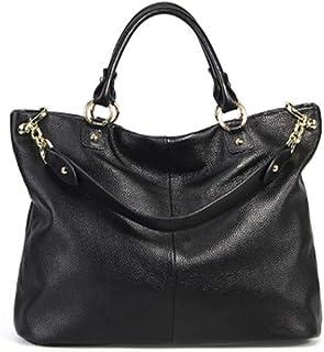 First Layer Cowhide Ladies Handbag, Women's Leather Designer Handbags, Fashion Women's Bag Slung Shoulder Bag, Big Capacity Bucket Bags