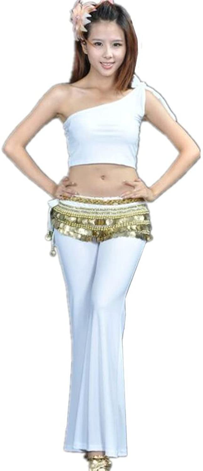 Women Belly Dance outfit Shoulder Tops Practice Pants costume Professional Performance Match clothes Set