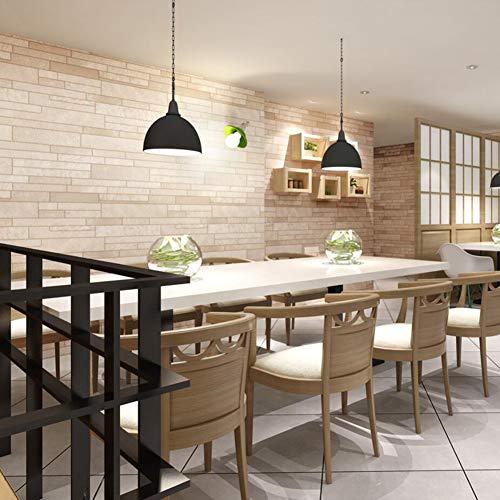 Pegatinas de pared 3D decorativas de vinilo para el hogar, estilo vintage, ladrillo, decoración de pared, decoración de pared, sala de estar, hotel, KTV 7.28