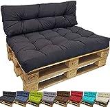 Diluma cojin para palés confort - cojin de asiento o respaldo para sofás palets - repelente a las manchas (no es un set! ), color:antracita, variante:1x asiento 120x80 cm