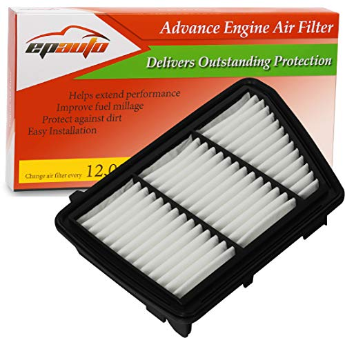 EPAuto GP259 (17220-5PH-A00) Replacement for Honda Extra Guard Rigid Panel Air Filter for CR-V 2.4L (2017-2018)