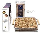 Diventa un professionista del fumo freddo! Kit Affumicatore in acciaio inox 304 per affumicare carne, pesce, formaggio,... Segatura di mela, Candela, S-Hook, E-Recipes. Il Kit completo BlackHoleur®!