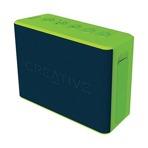 Creative MUVO 2c - Leistungsstarker, kompakter, wetterfester Wireless Bluetooth Lautsprecher (für Apple iOS/Android Smartphone, Tablet/MP3) grün