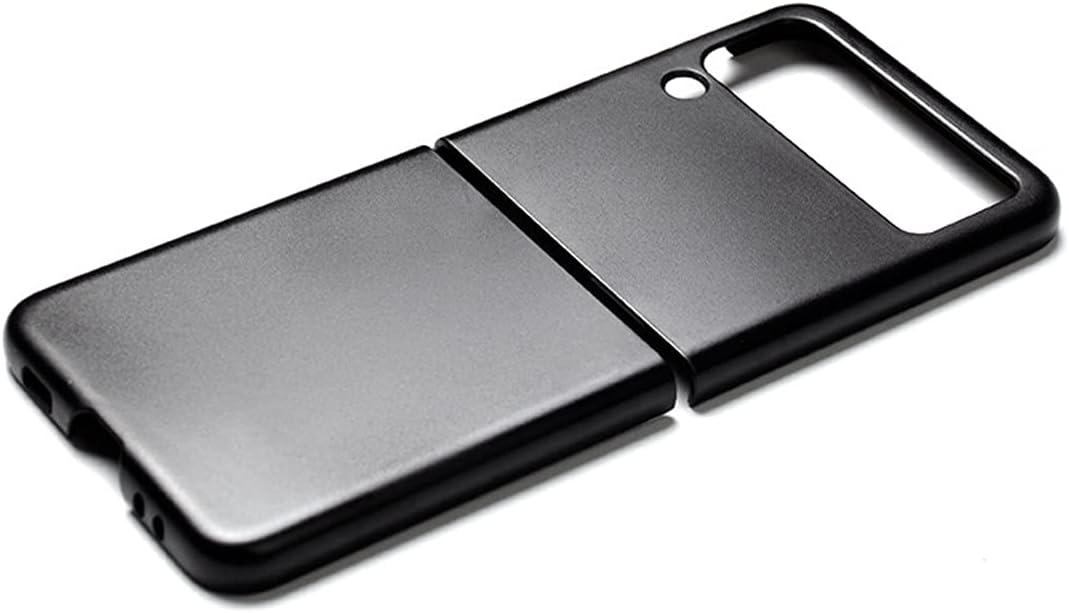 AISELAN Phone Black Case Cover for Samsung Galaxy Z Flip3 5G 2021 - Shockproof Drop-Proof Black Plastic PC Protective Phone Case Holder for Galaxy Z Flip3 5G Folding Phone