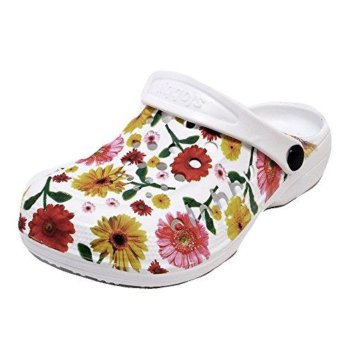Damen Clogs Badeschuhe (59D) Badelatschen Pantoffel Pantoletten Schuhe Neu Größe 39, Farbe Gelb