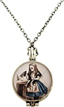 ASVP Shop Alice in Wonderland Pendent Necklace - Adjustable Size with Locket Pendent - Great for Gifts and Alice Parties