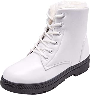 Fulision Female Winter Keep Warm Lace-up Rubber Sole Short Martin Snow Boots