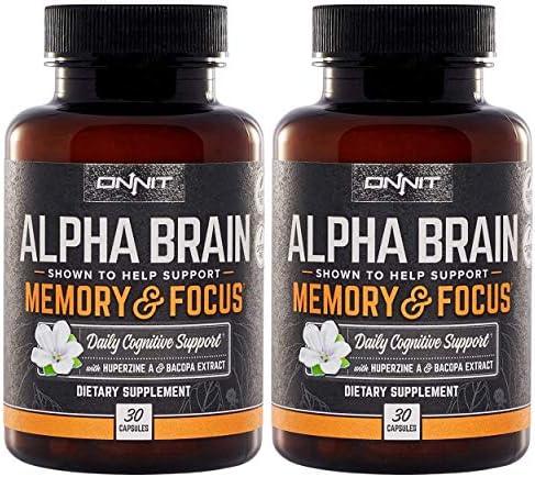 ONNIT Alpha Brain 60ct Over 1 Million Bottles Sold Premium Nootropic Brain Supplement Focus product image