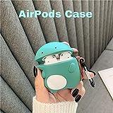 Custodia protettiva AirPods per piccoli dinosauri JIAJIA a forma di cartone animato in silicone adatto per cuffie wireless Bluetooth Apple di seconda generazione