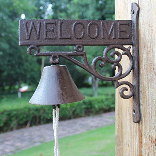 CQ American Country Retro eenvoudig welkom gietijzeren deurbel Hand Bells creatieve smeedijzeren tuin muur decoratie