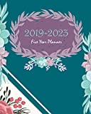 2019-2023 Five Year Planner: Blue Green Cactus Cover,  60 Months Calendar Planner Agenda with Holidays Planner 8' x 10'