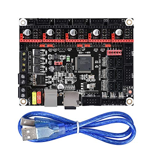 PoPprint SKR V1.3 Control Board 32-Bit CPU Equipped with Open Source Firmware Marlin2.0 and Smoothieware and Use Gold deposition technology Support TMC2130 TMC2208 DRV8825 A4988 Driver For 3D Printer.