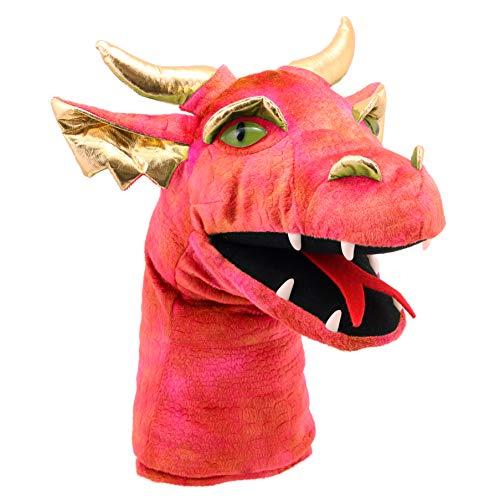 The Puppet Company Cabeza de dragón grande Marioneta de Mano, Rojo, PC004805