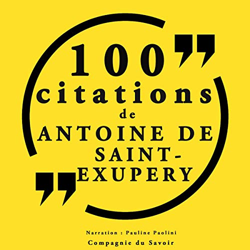 Couverture de 100 citations d'Antoine de Saint Exupéry