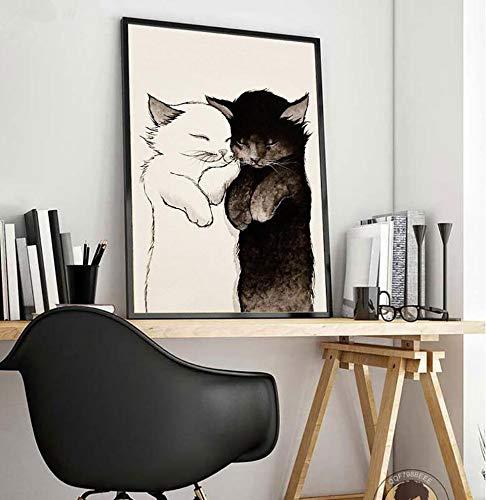 Puzzle 1000 Piezas Arte Animal Gato Imagen de Estilo nórdico Puzzle 1000 Piezas Adultos Gran Ocio vacacional, Juegos interactivos familiares50x75cm(20x30inch)