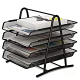IOUGDSEC - Banqueta de almacenamiento para escritorio, bandeja de correo para...