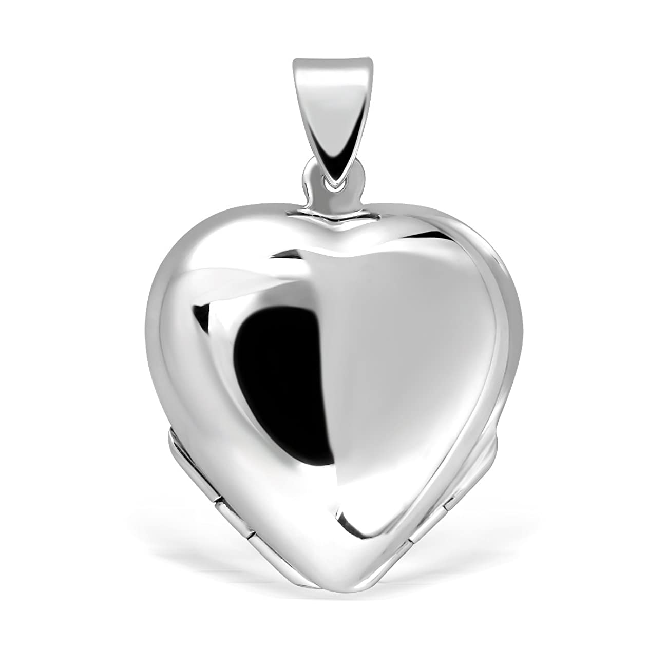 WithLoveSilver 925 Sterling Silver Heart Lucky Clover Photo for Four Pictures Pendant Locket
