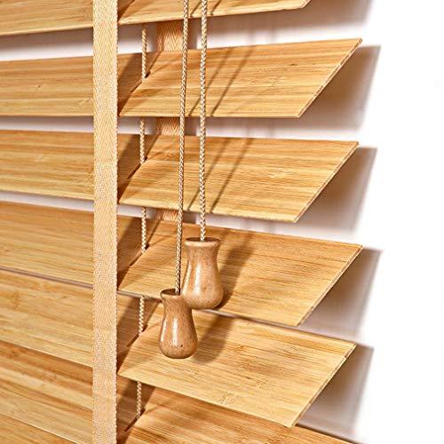 MY1MEY Rollen Bambusrollo Holzjalousien,Büro Fensterrollos,Erhältlich in 4 Farben und Mehreren Größen,Anpassbare Jalousie für Möbel, Geräte&Ausrüstung