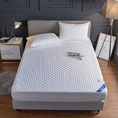 HAIBA Protector de colchón impermeable Terry Funda de algodón - Fitted,White,120x200cm