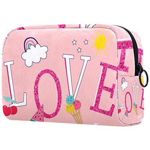 Bolsa de maquillaje de dibujos animados bolsa de cosméticos impresa artículos de tocador de viaje bolsas de cosméticos para mujeres encantador gato