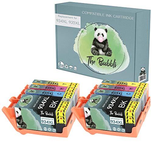 The Bubbli Original | 934XL 935XL Cartucho de Tinta Compatible para HP OfficeJet Pro 6830 6230 6812 6835 6820 (8-Pack)