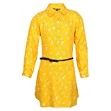 STOP Blended Shirt Dress (205305844_Yellow_3 4 Years)