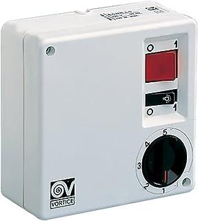 Vortice SCRR5L Color Blanco Controlador de Velocidad de Ventilador - Ventilador para Caja de Ordenador (Color Blanco, Botones, Giratorio, 220-240, 100 W, 120 mm, 55 mm)