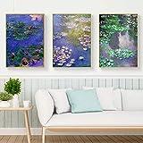 Impressionist Wandkunst Leinwand Ölgemälde Monet Lotus