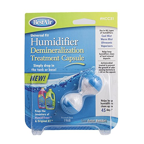 BestAir HCC31-PDQ-4 Humidifier Demineralization Treatment Capsule, For All Types of Humidifiers, Single Pack