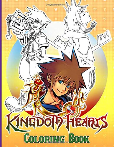 Kingdom Hearts Coloring Book: Creature Kingdom Hearts Coloring Books For Adults, Boys, Girls