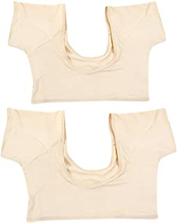 Prettyia 2 Pcs Reusable Washable Sweat-proof Armpit T Shirt W/Underarm Sweat Pads L+M