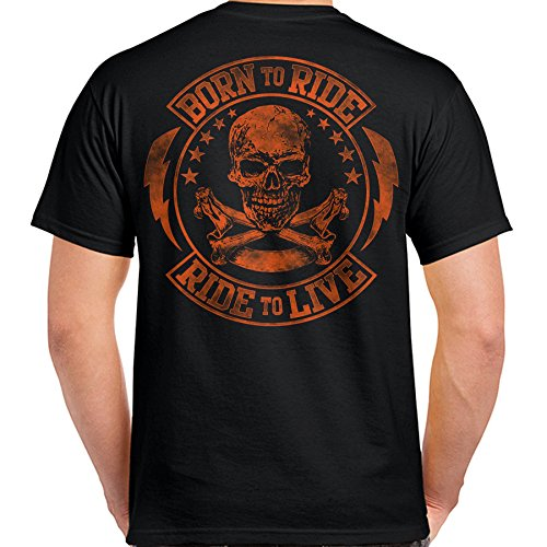 Born to Ride/Ride to Live T-Shirt (Black)