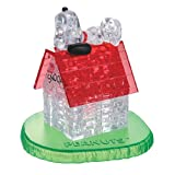 BePuzzled Original 3D Crystal Jigsaw Puzzle - Snoopy and House Assembly Brain Teaser, Fun Yet Challenging Peanuts Model Toy Gift Decoration for Adults & Kids Age 12 and Up, 50 Pieces (Level 1)