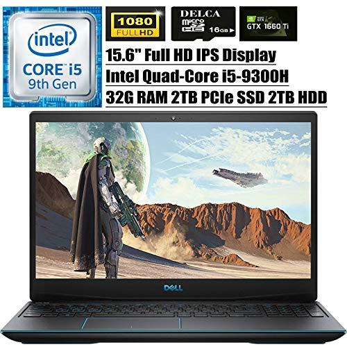 Dell G3 15 3590 2020 Premium Gaming Laptop I 15.6' FHD IPS I Intel Quad-Core i5-9300H (i7-7700HQ) I 32GB DDR4 2TB PCIe SSD 2TB HDD I 6GB 1660Ti Max-Q Backlit WiFi Win 10 + Delca 16GB Micro SD Card
