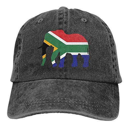 N/A Trucker Cap,Skull Bandana,Straße Hut,Visier Hut,Sonne Hüte,Elefant Südafrika Flagge Denim Jeanet Baseball Cap Verstellbarer Papa Hut