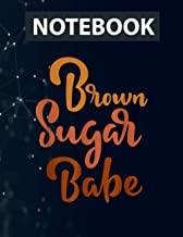 African American Black Melanin Skin Brown Sugar Babe Notebook / 130 pages / US Letter Size